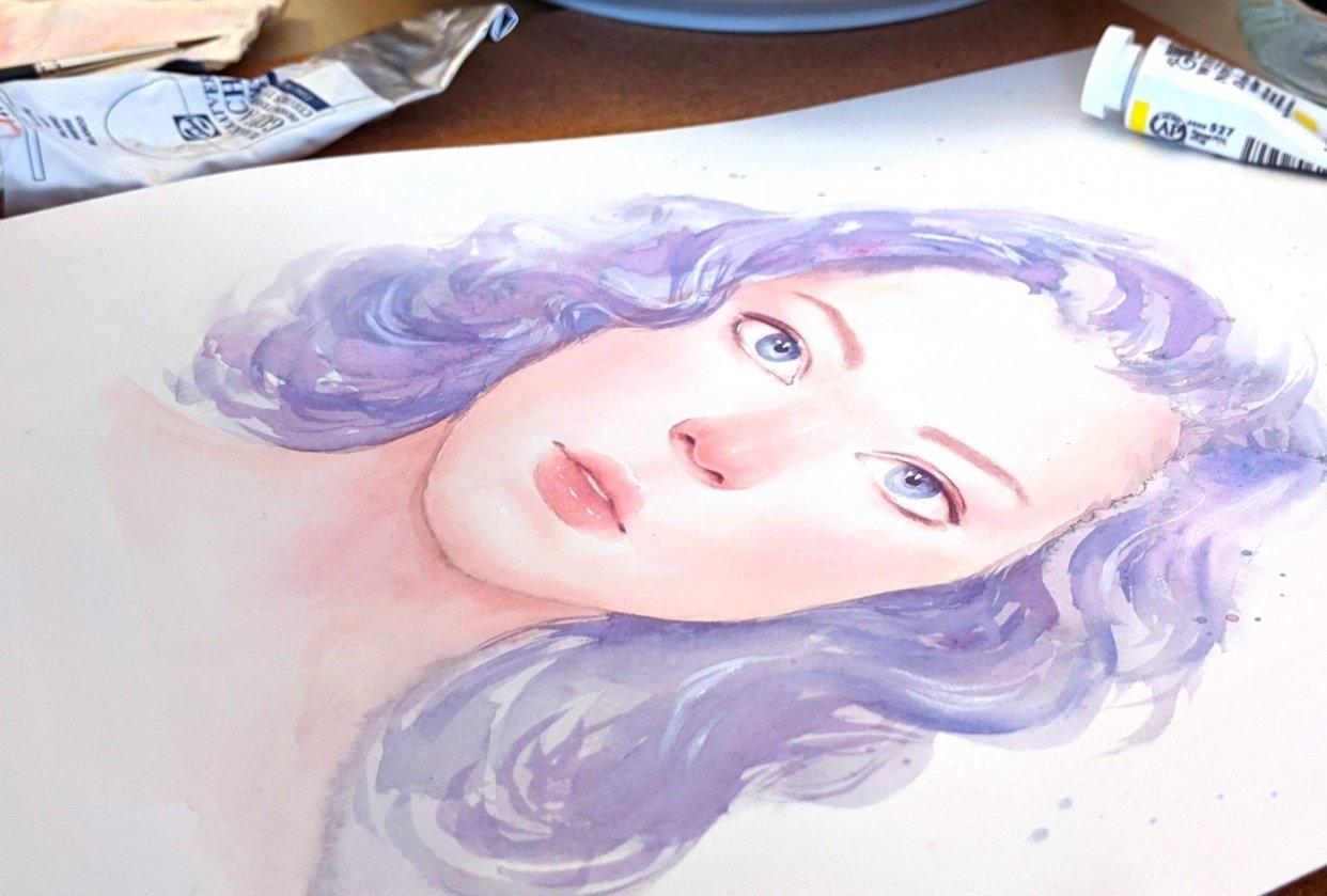 Sample Project - Gouache Portrait - student project