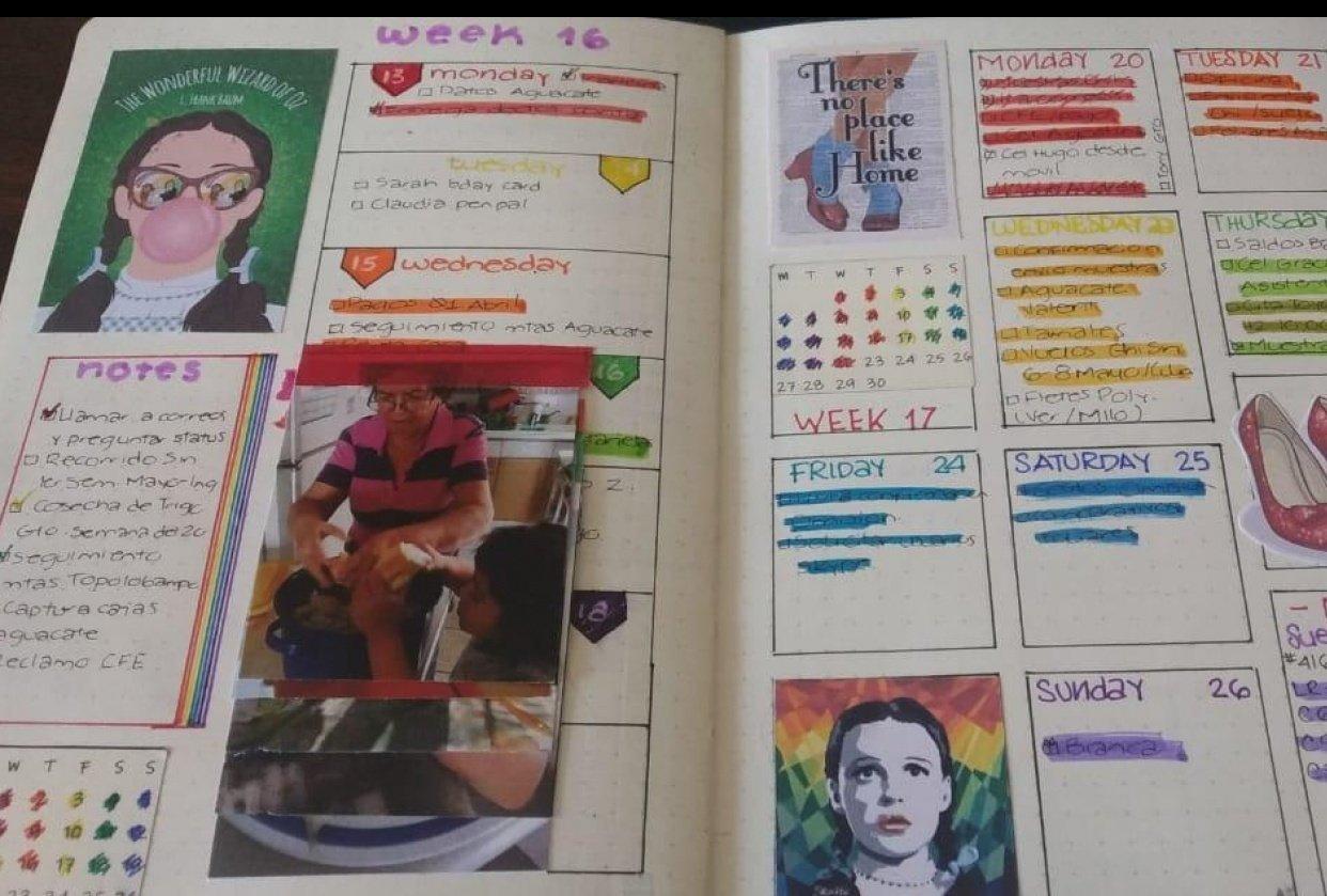 April Bullet Journal - student project