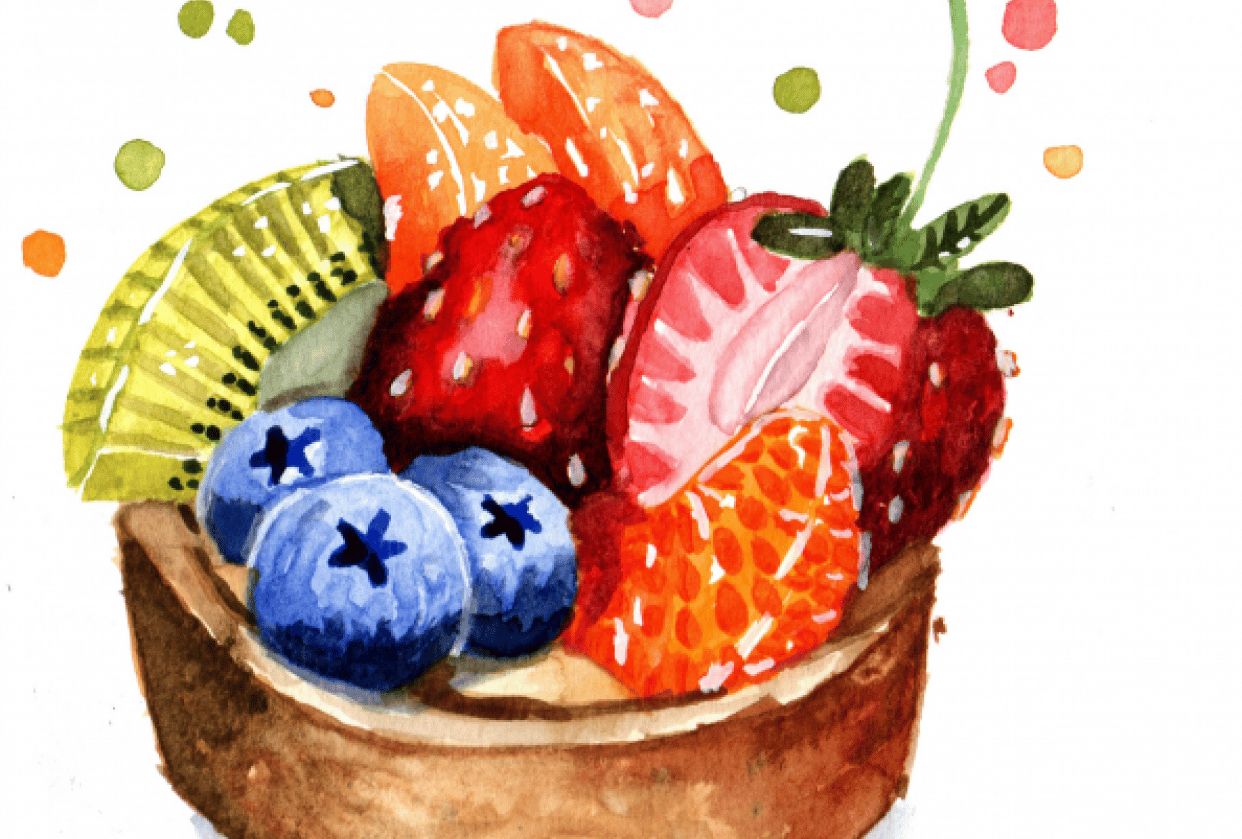 Fruit tart - student project