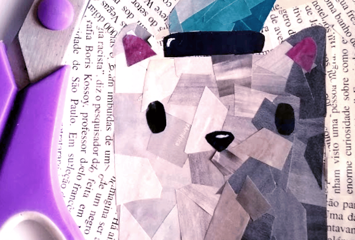 Little Cat Collage - student project