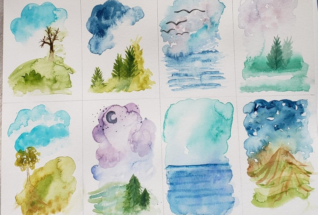 Mini Landscapes - student project
