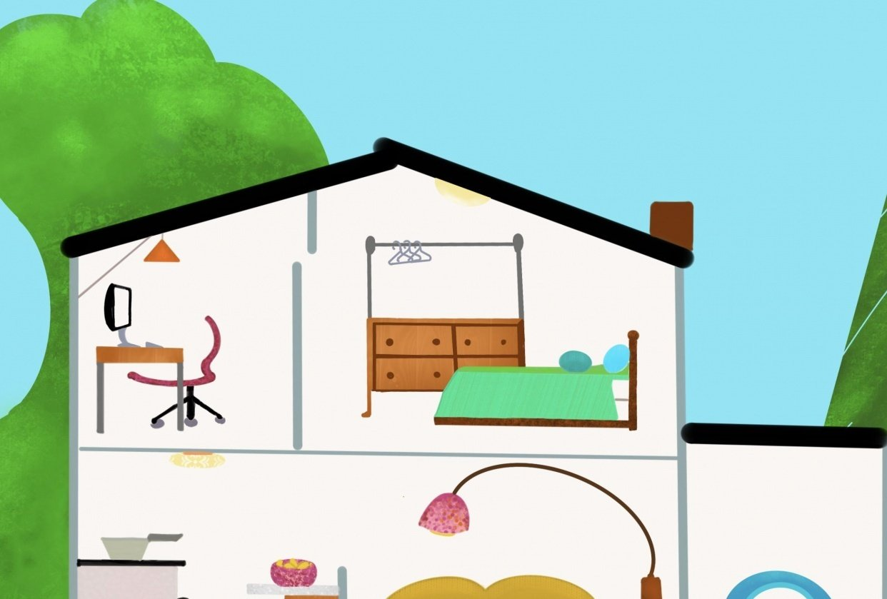 House illustration - student project