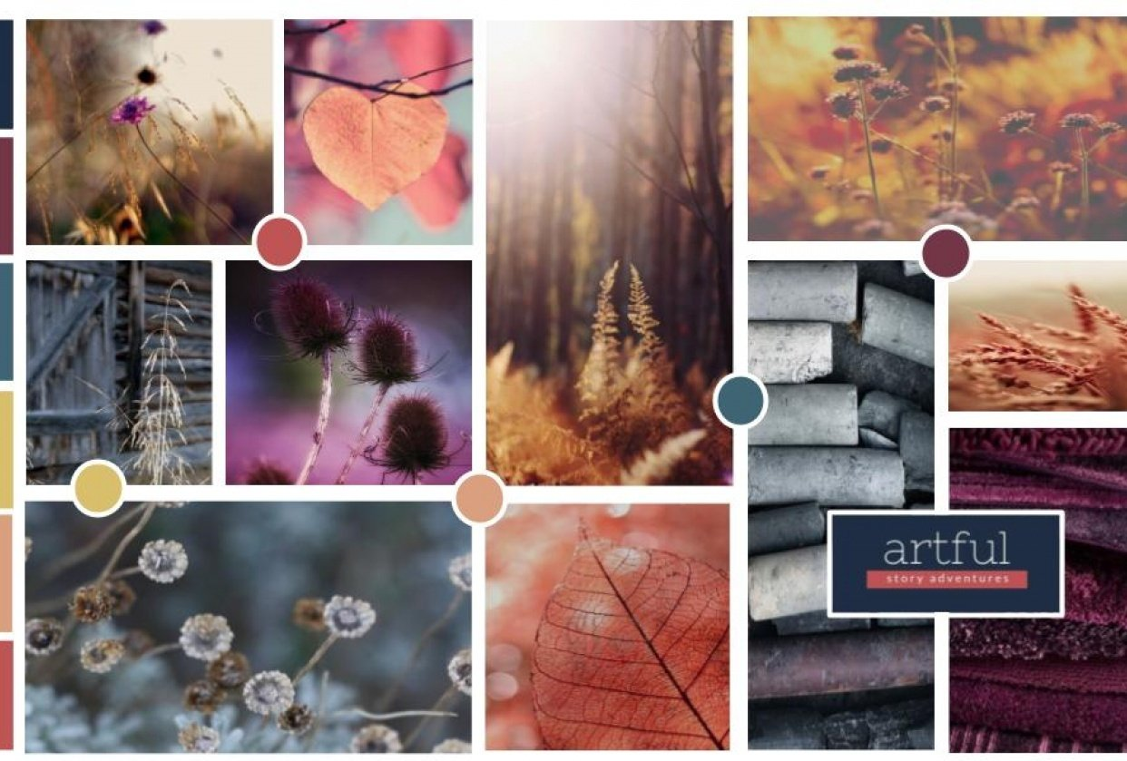 Moodboard for Artful Story Adventures - student project
