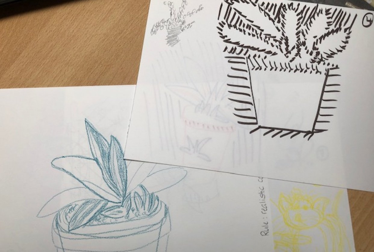 10 Drawings - student project