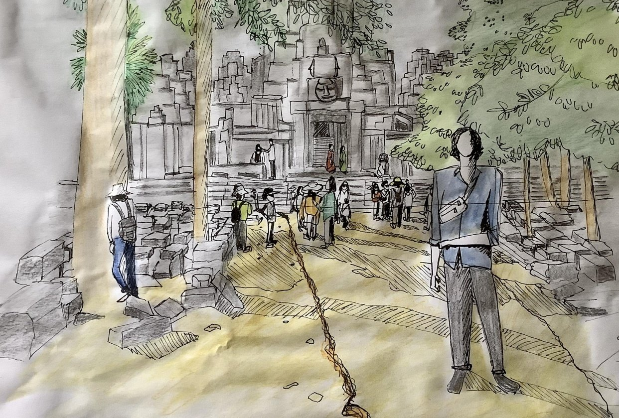 Urban sketching: Drawing people - student project