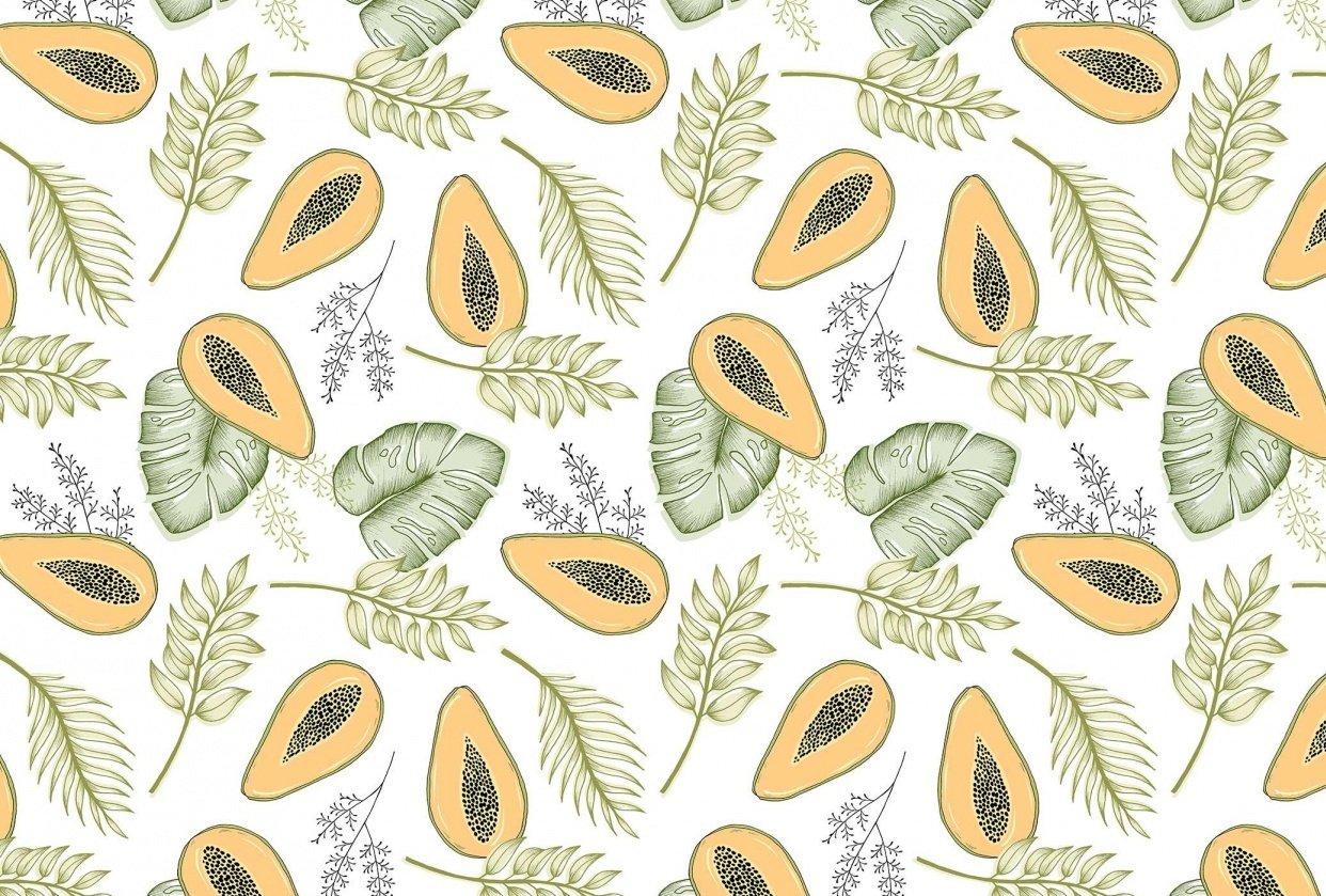 Papaya Jungle Pattern - student project