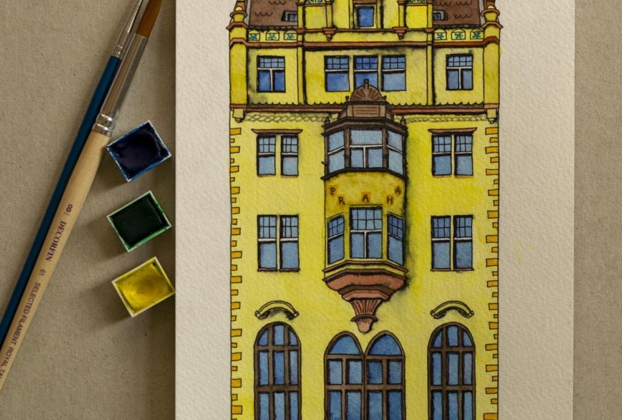 Prague memory - 3 paintings - student project