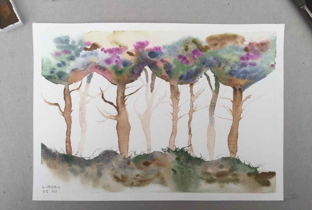 Loose trees with Jane Davies - student project