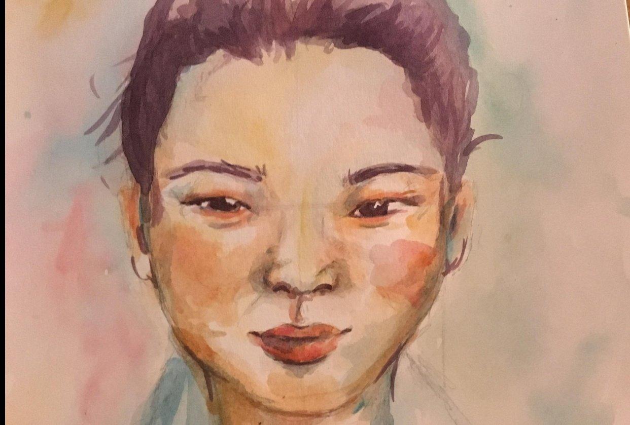 Rainbow Portrait - student project