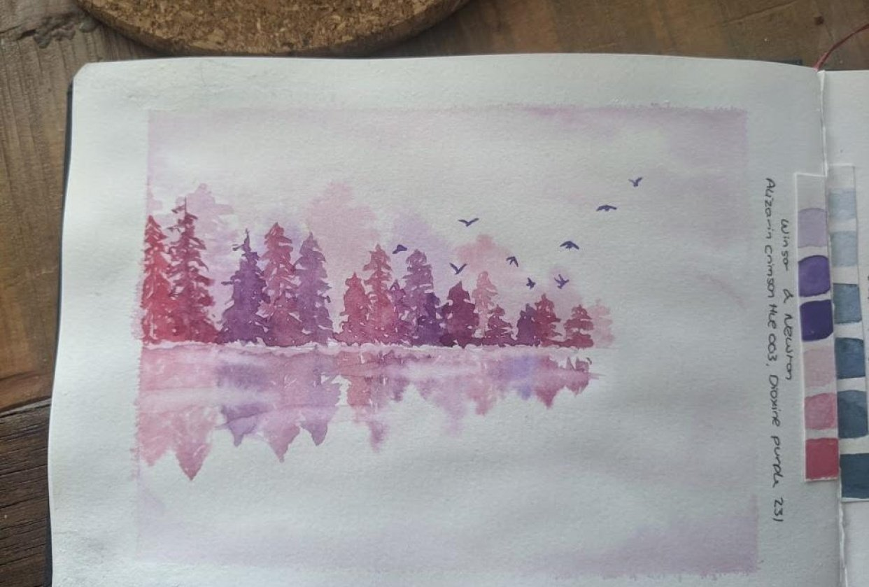 Pink and Purple trees - student project