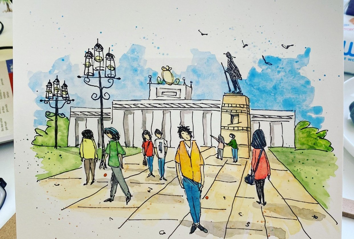 Urban Sketching — Adding People - student project