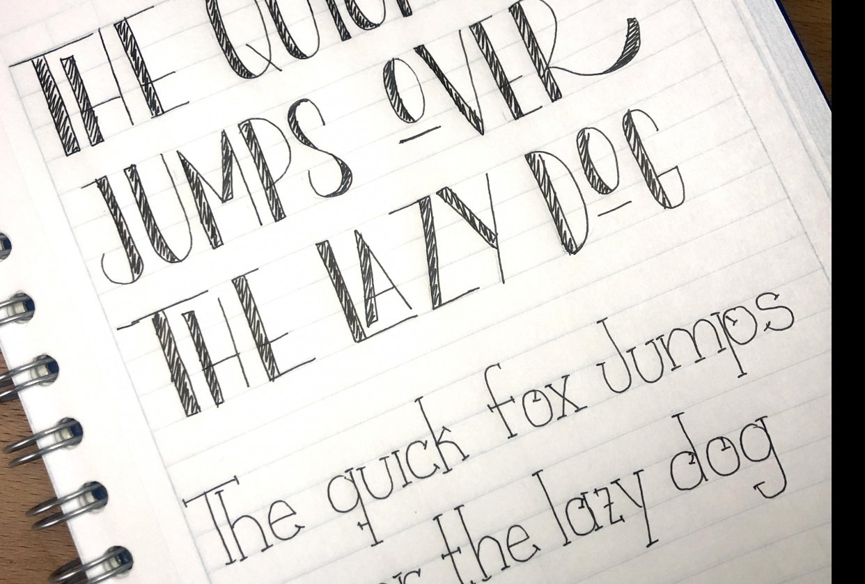 Fauxligraphy - student project