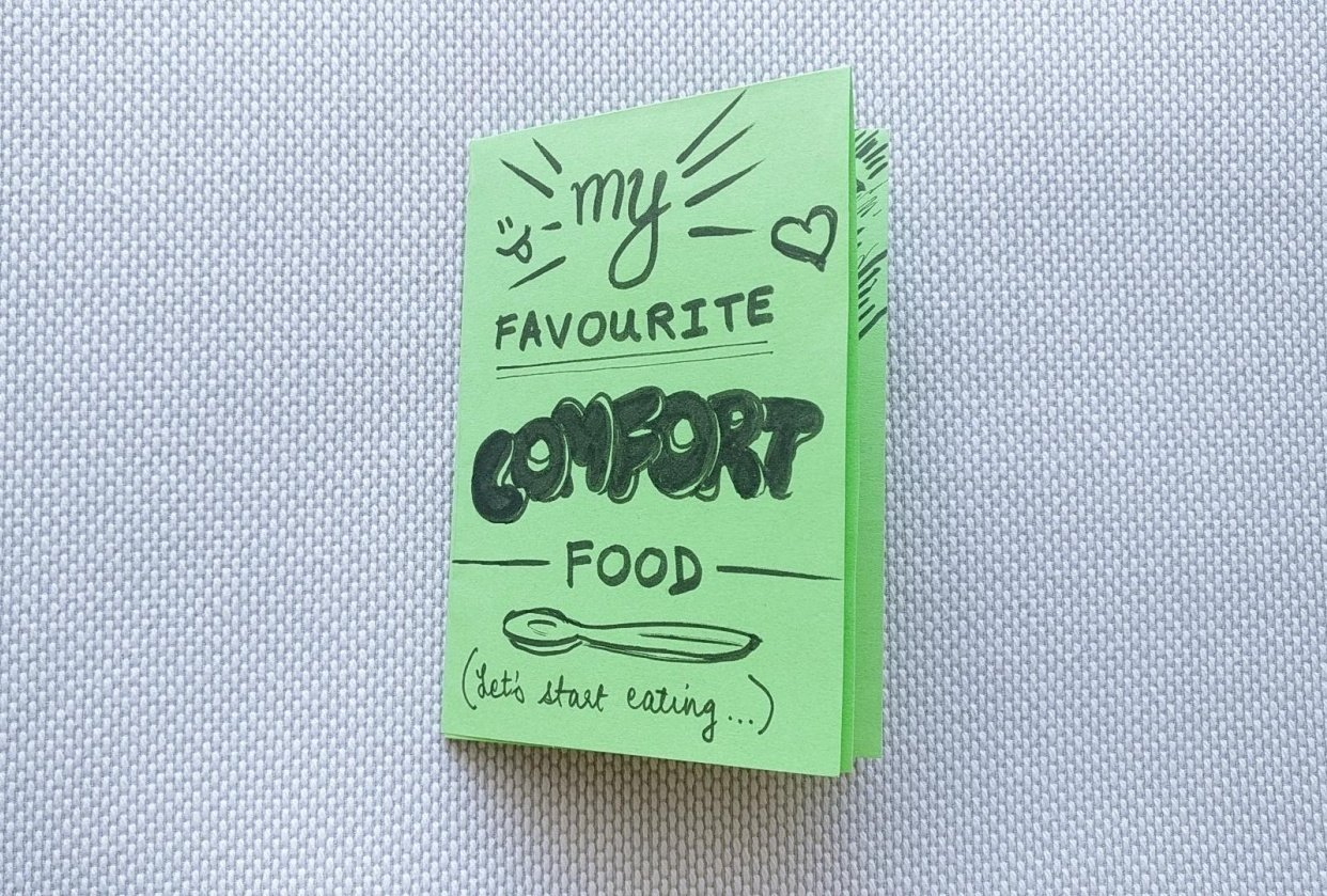 First Zine: My Favourite Comfort Food - student project