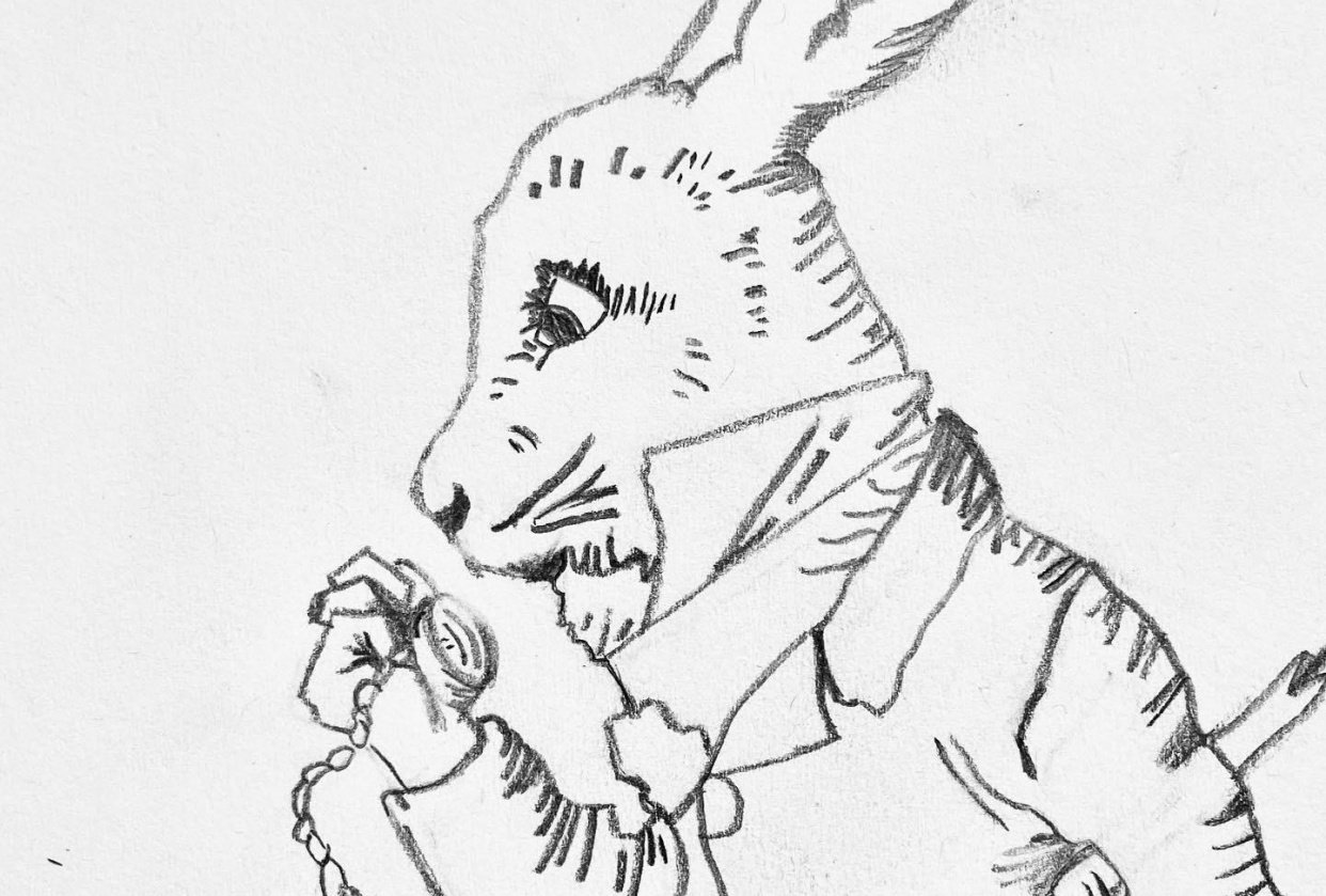 Upside Down White Rabbit - student project