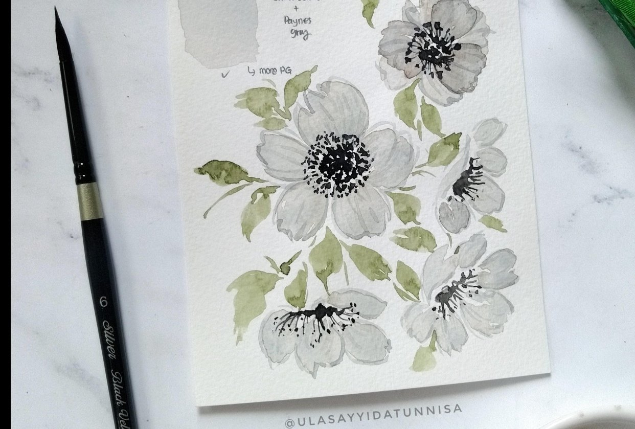 from Cara's class : how to create white watercolors - student project