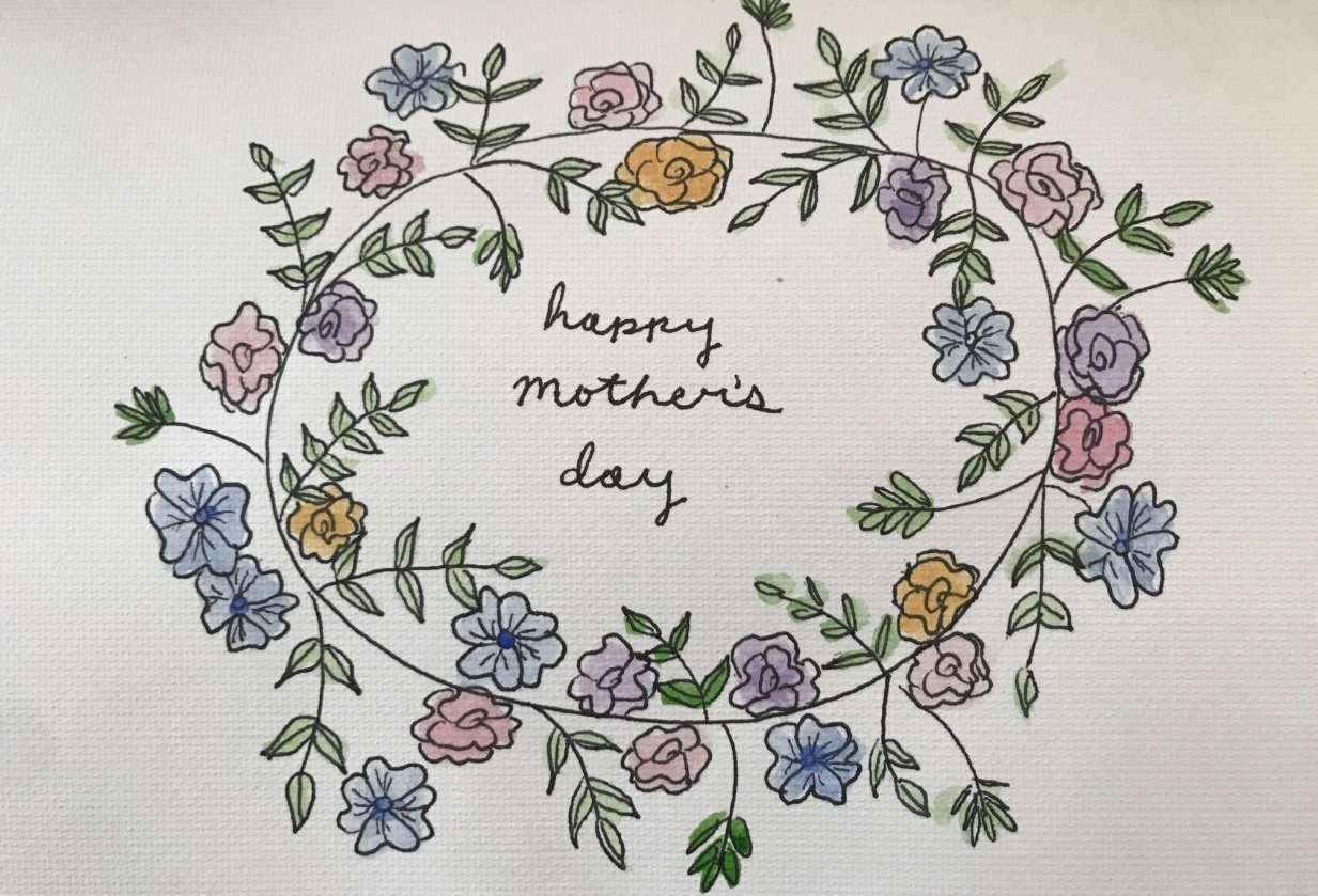 Mother's Day Card - student project