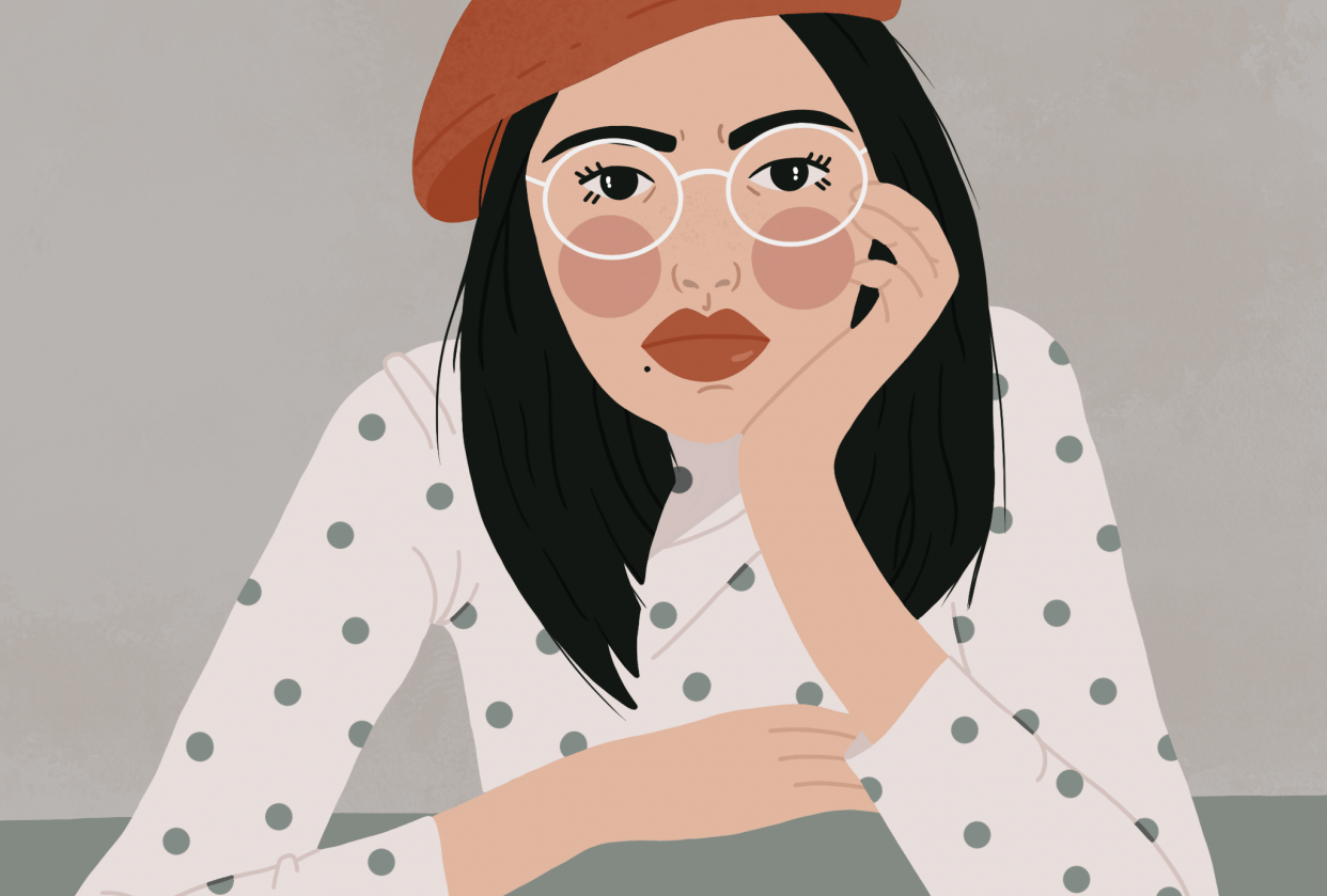 Glasses girl - student project