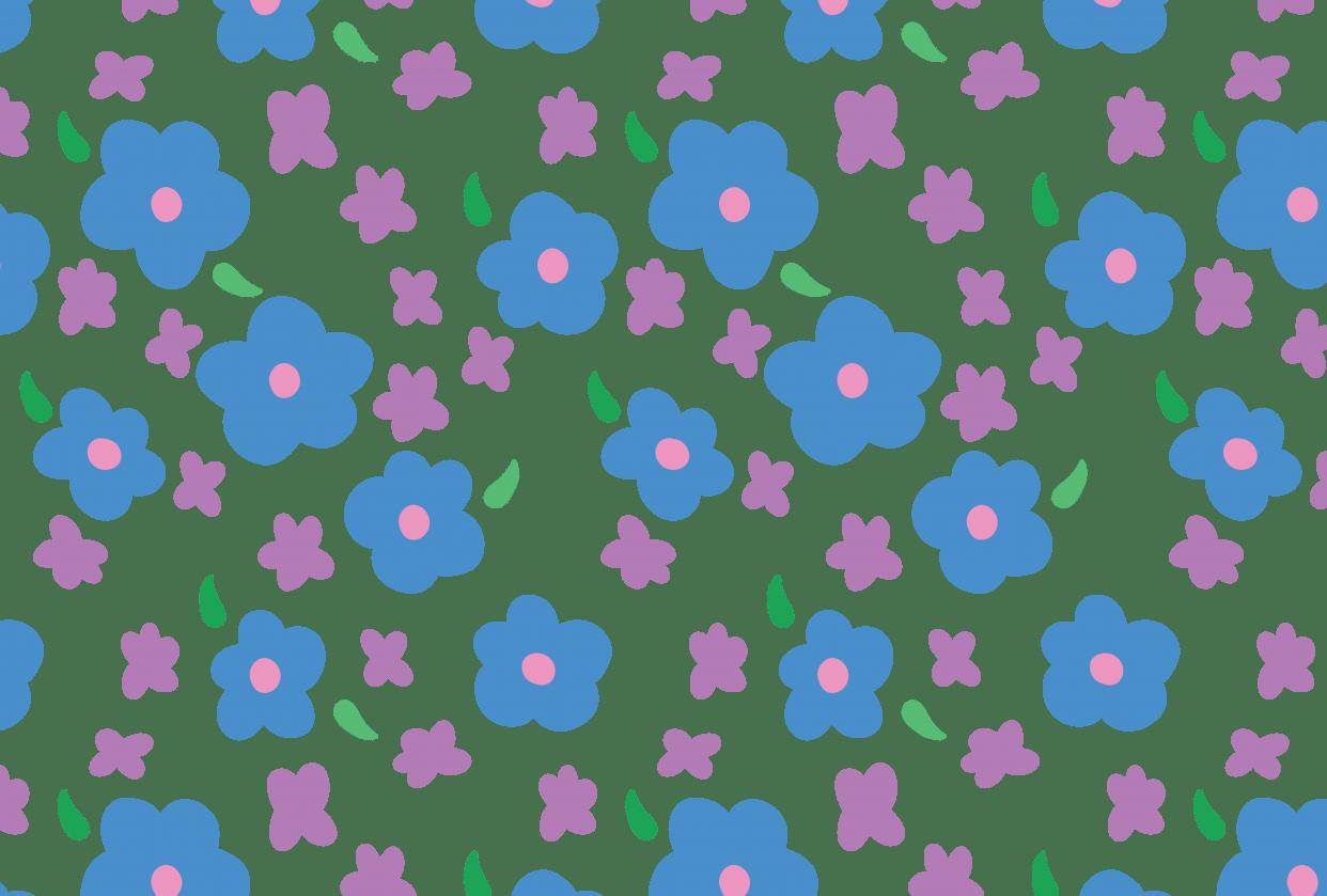 Blue Flower Pattern - student project