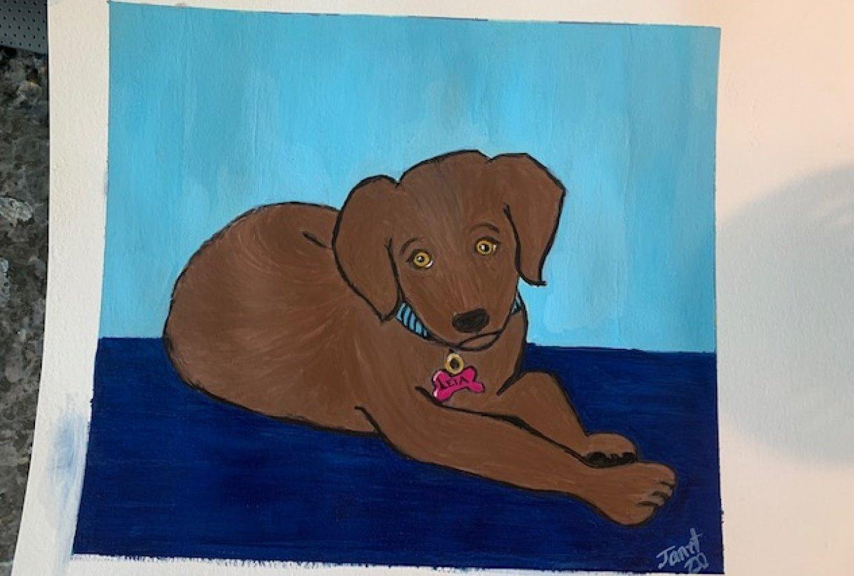 Puppy Portrait - Princess Leia - student project