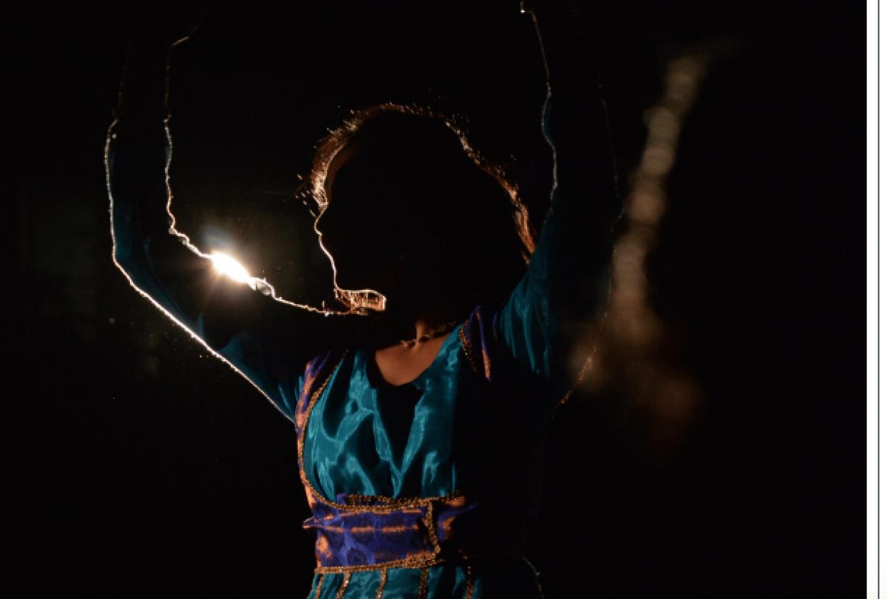 Dancer celebrating Diwali - student project