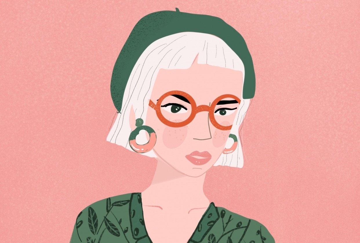 Lady with a beret - student project