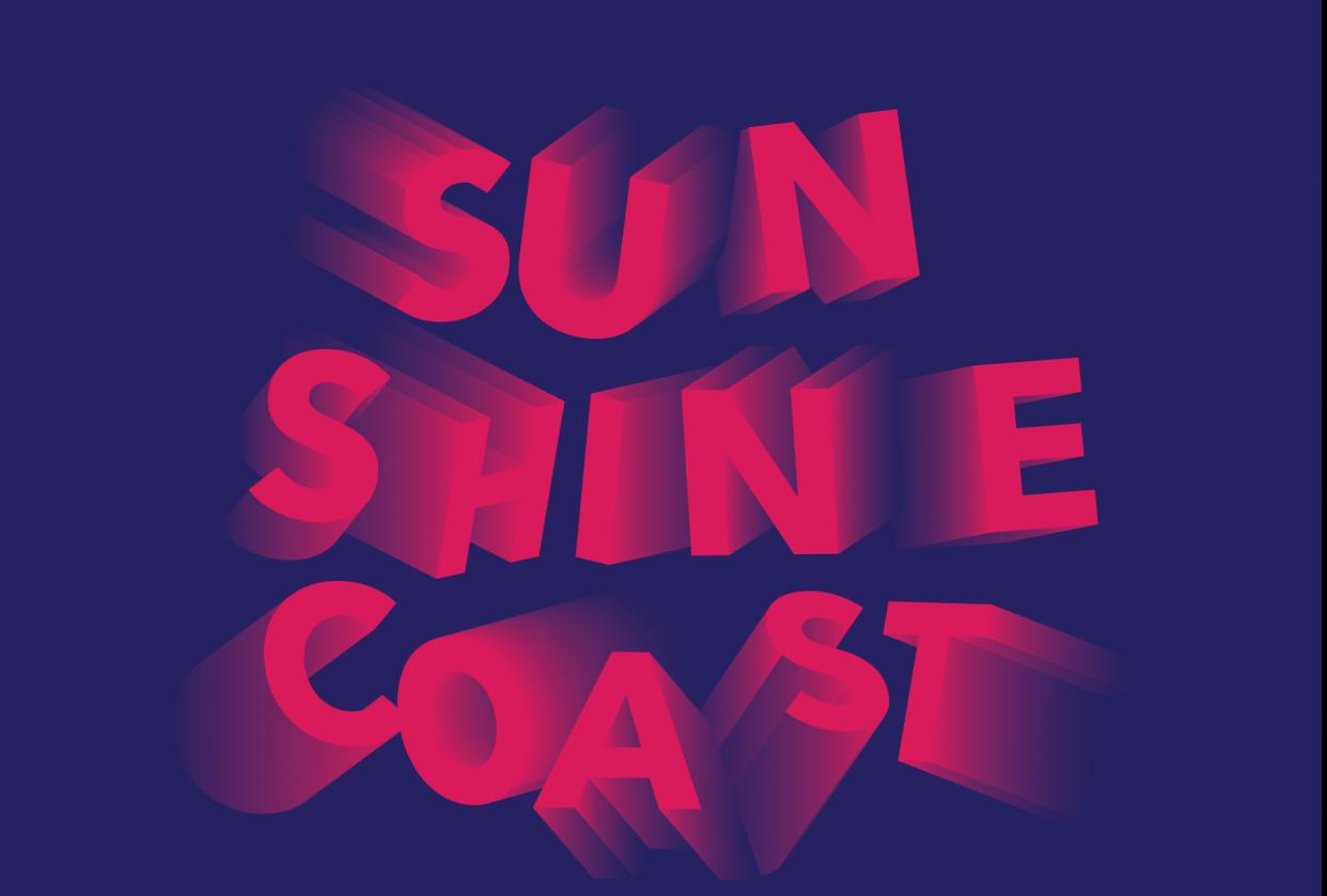 Sunshine Coast in 3d blur - student project