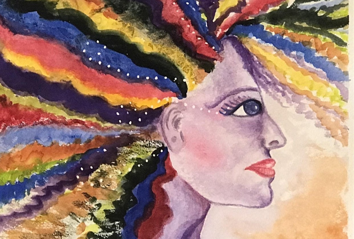 Abstract Lady Portrait - student project