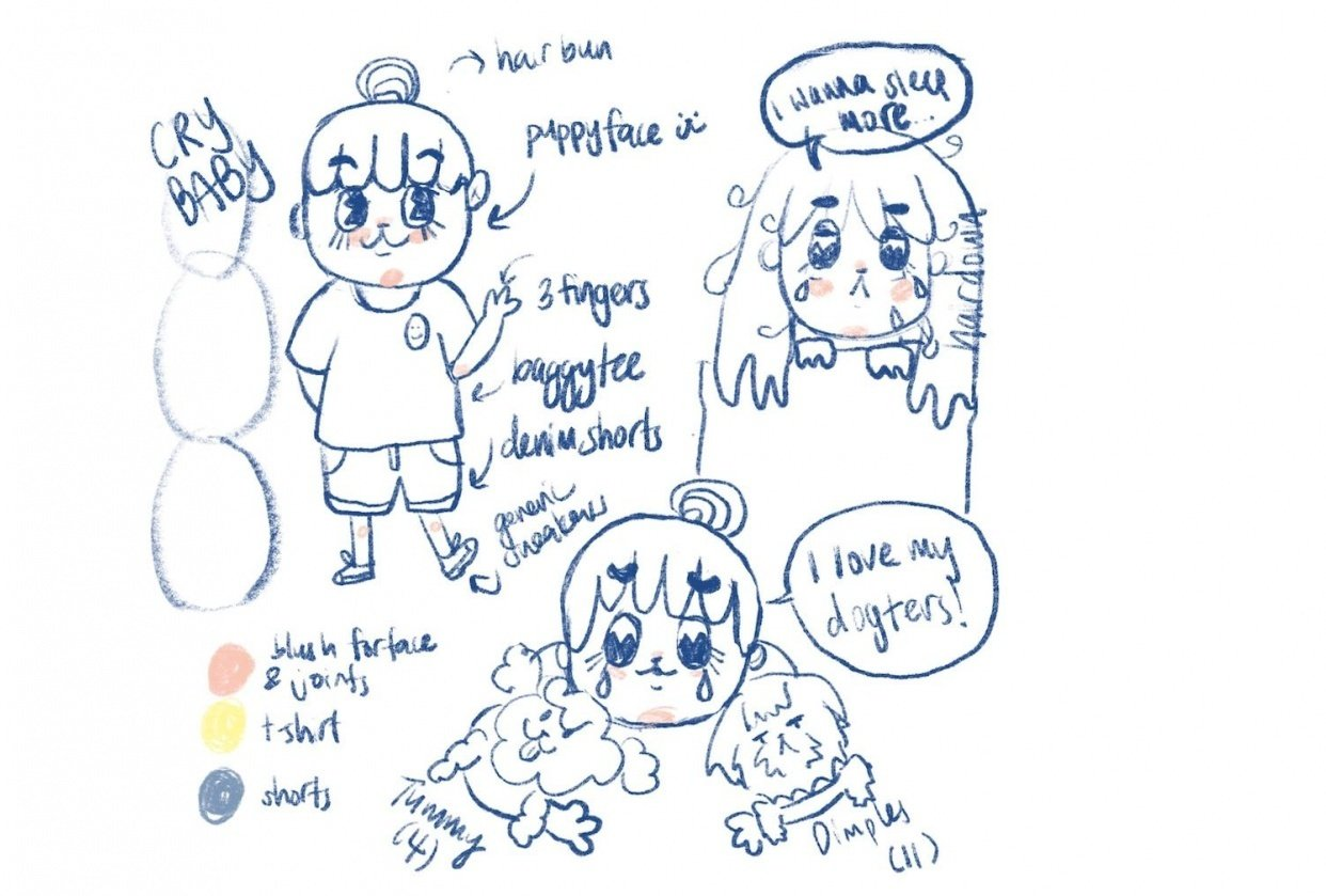 Crybaby's Character Sketch - student project