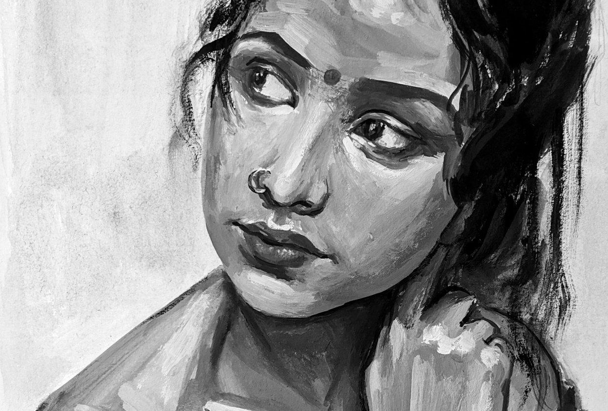 Monochrome Portrait - student project