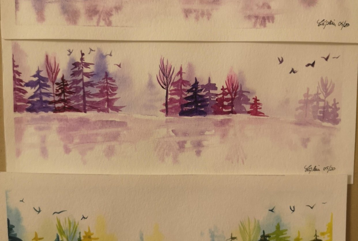 Trying to get better at pine trees - student project