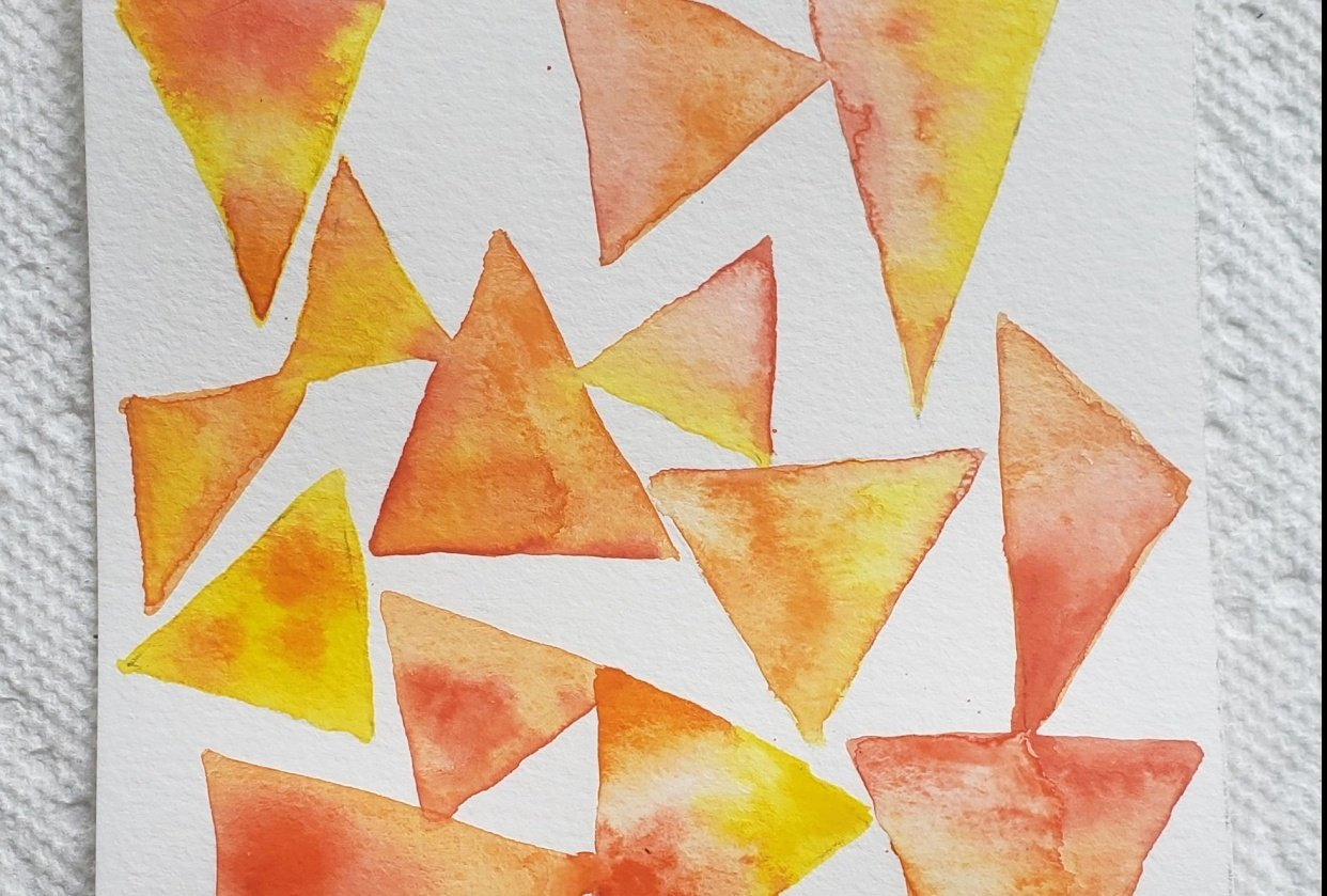 Watercolor backgrounds - student project