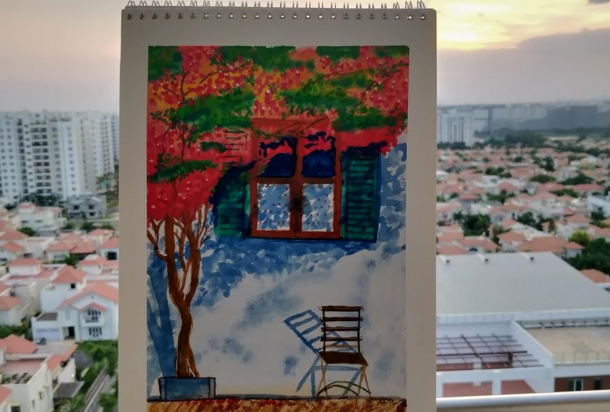 Bougainvillea by Supriya - student project