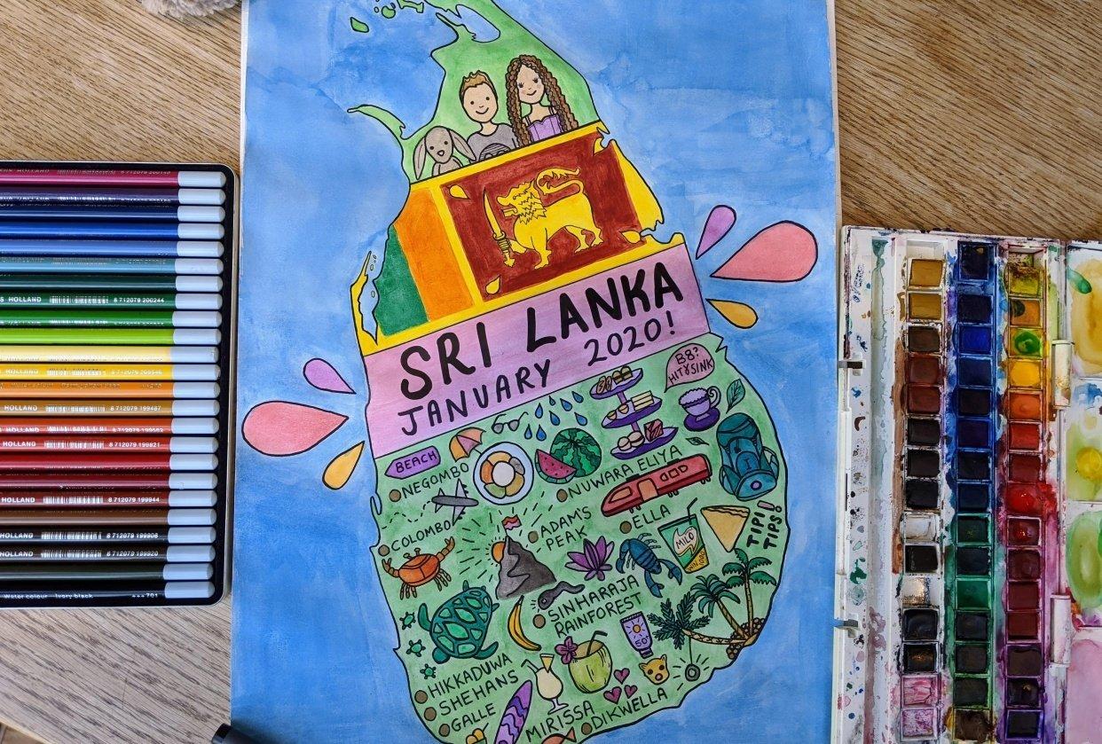 Sri Lanka map - student project