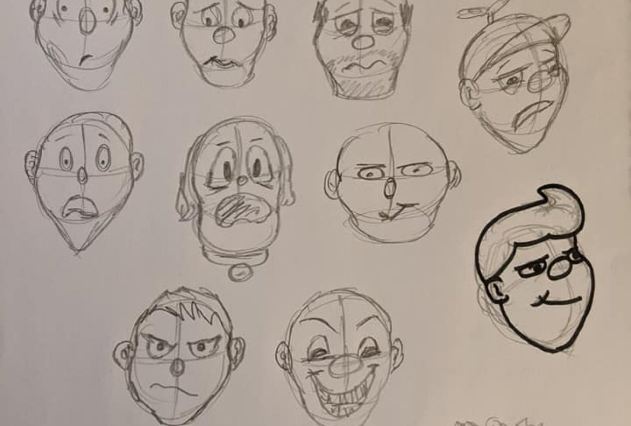 Cartooning Experiment - student project