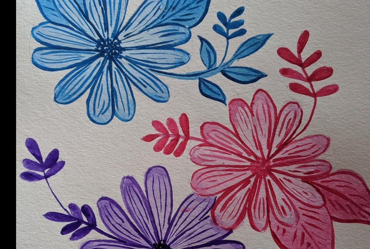 Monocrome flowers - student project