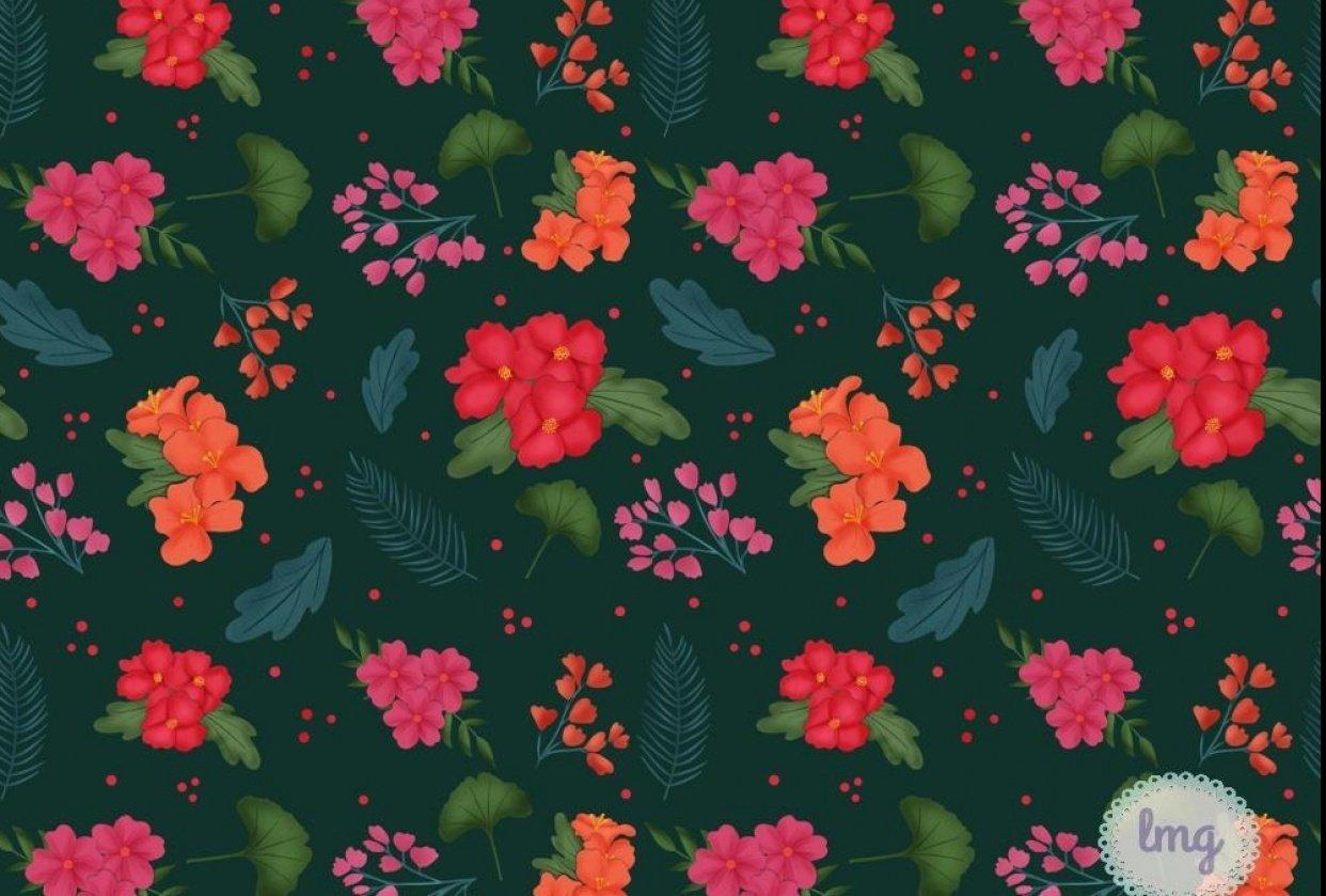 Vintage Dark Florals - student project