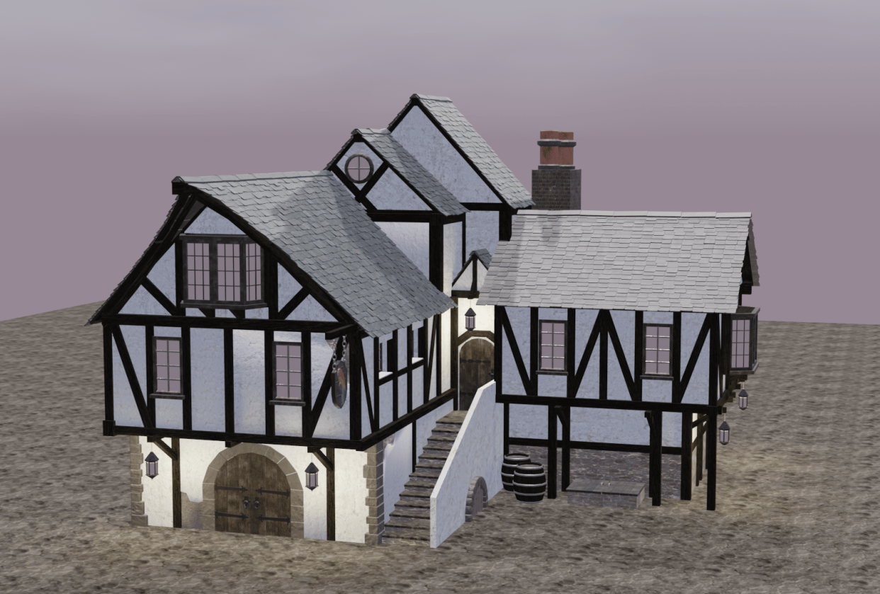 Medieval inn - student project