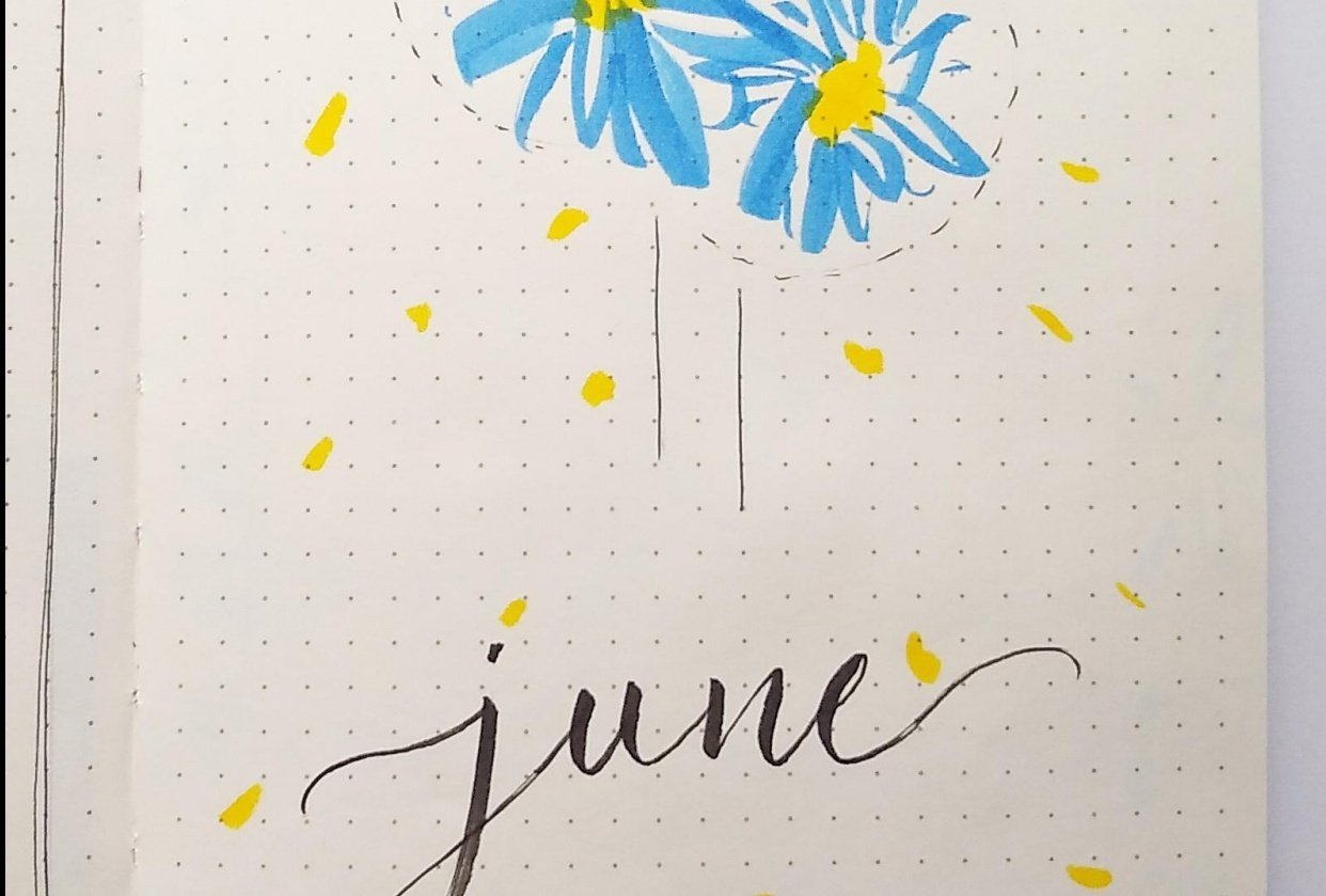 June Bullet Journal Layout - student project