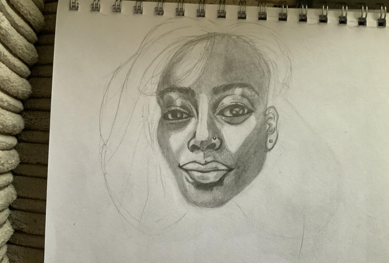 Portrait sketch attempt - student project