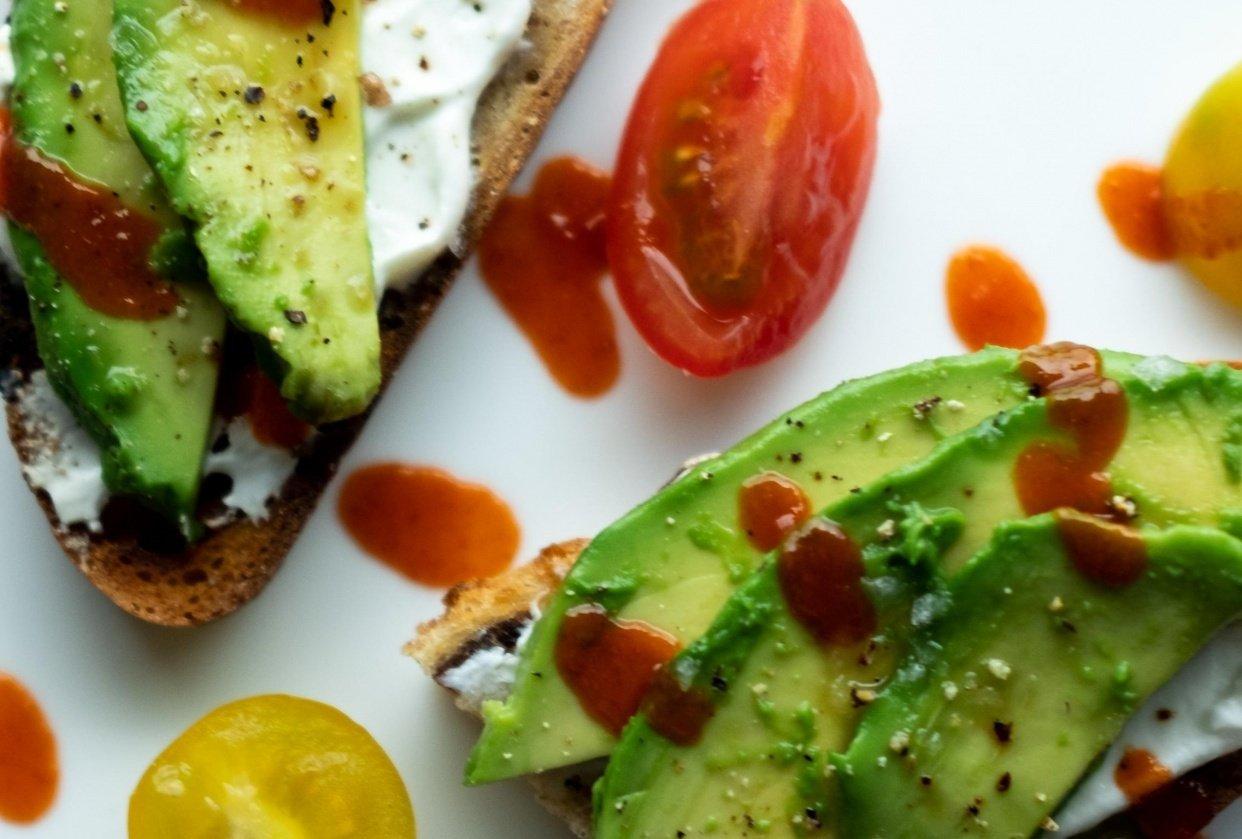 avocado & egg/bacon toasts - student project