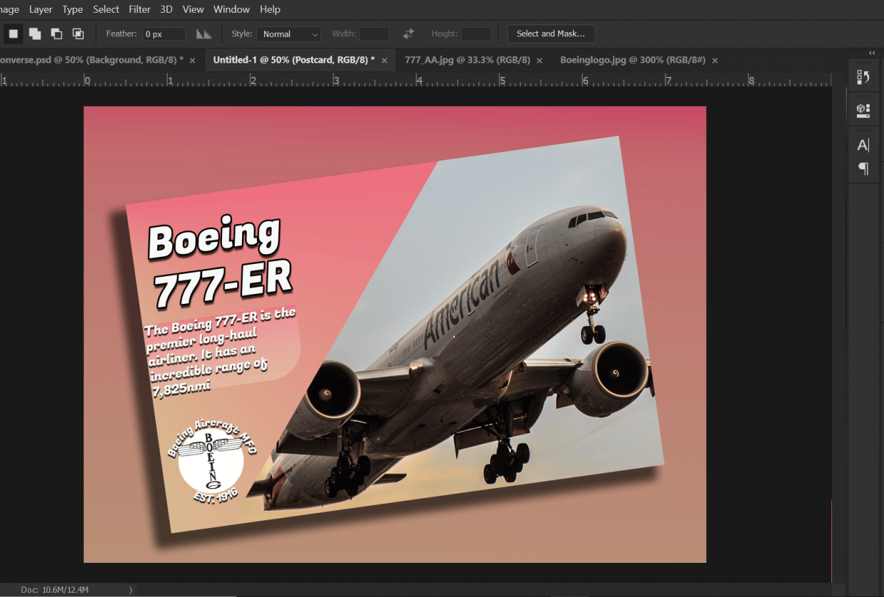 Boeing 777 American Airlines - student project