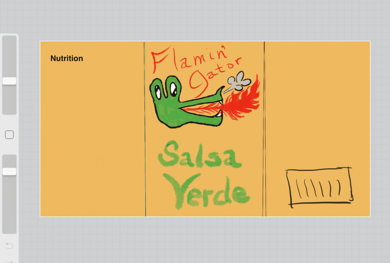 Flamin' Gator Salsa Verde (rough draft only) - student project