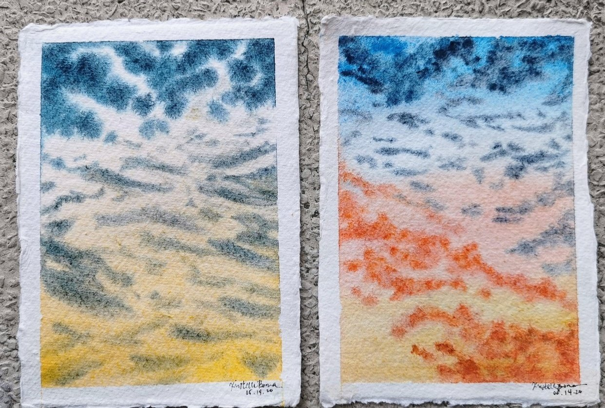 Clouds studies - student project