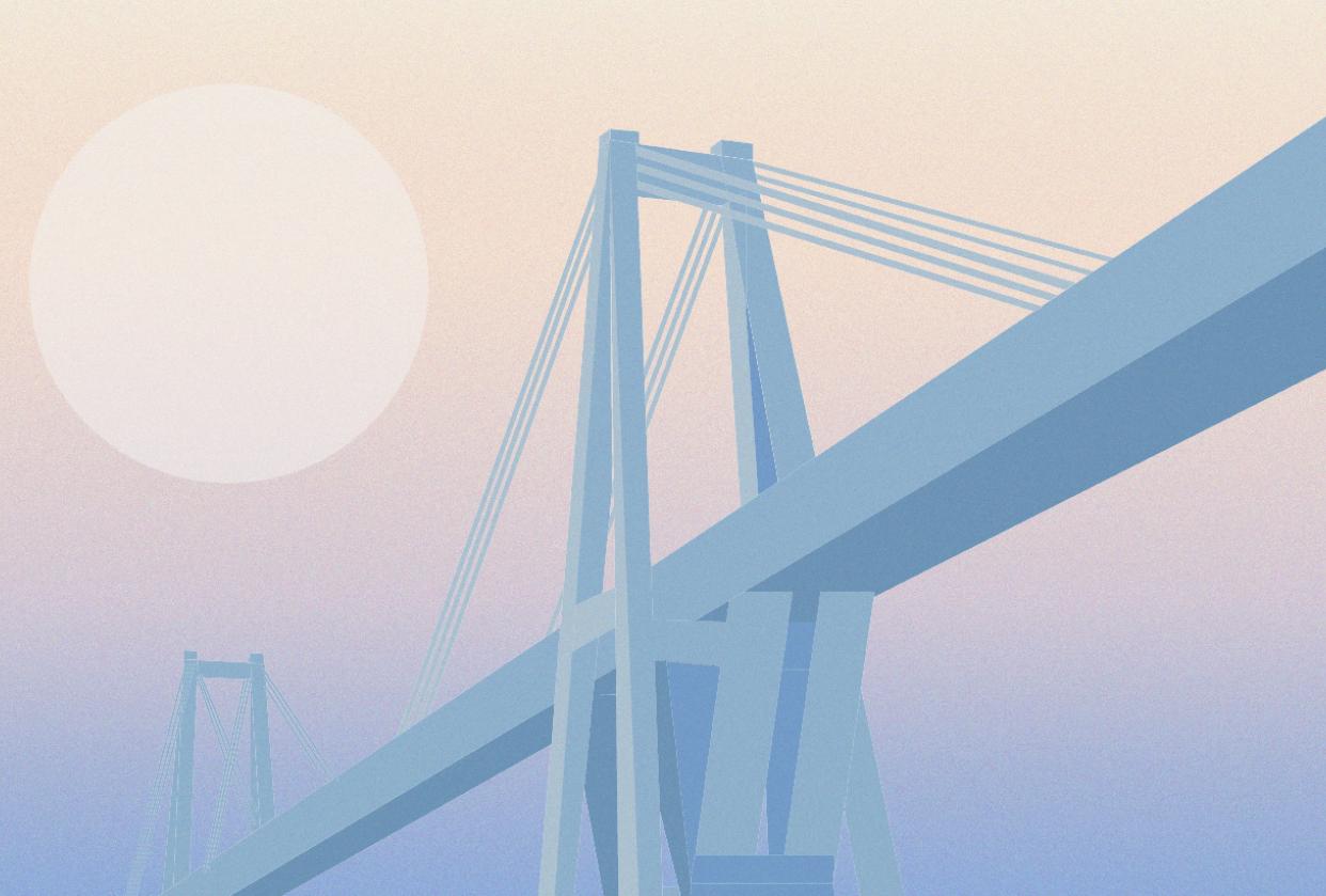 Minimalistic gradient bridge - student project