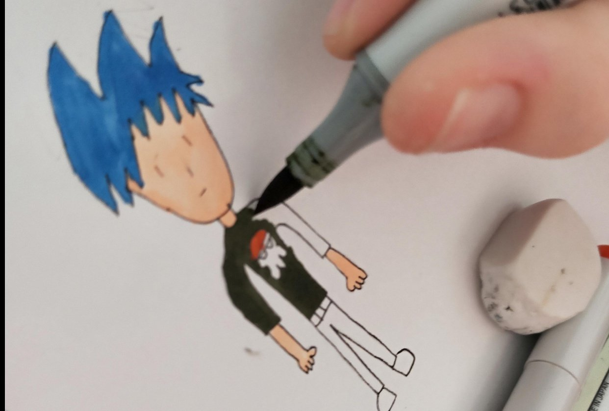 The Boy with Blue hair - student project