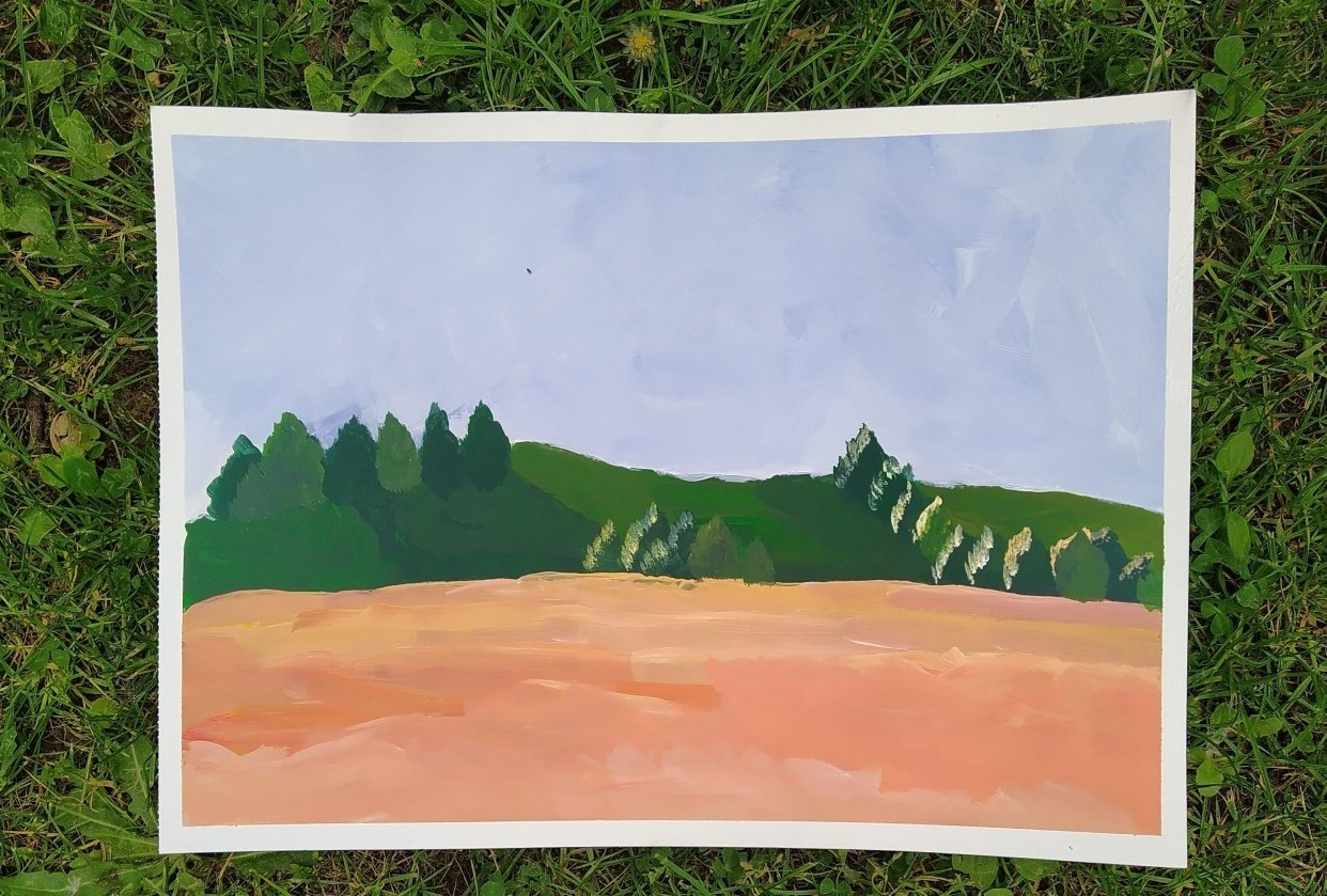First Ever Acrylic Painting - student project