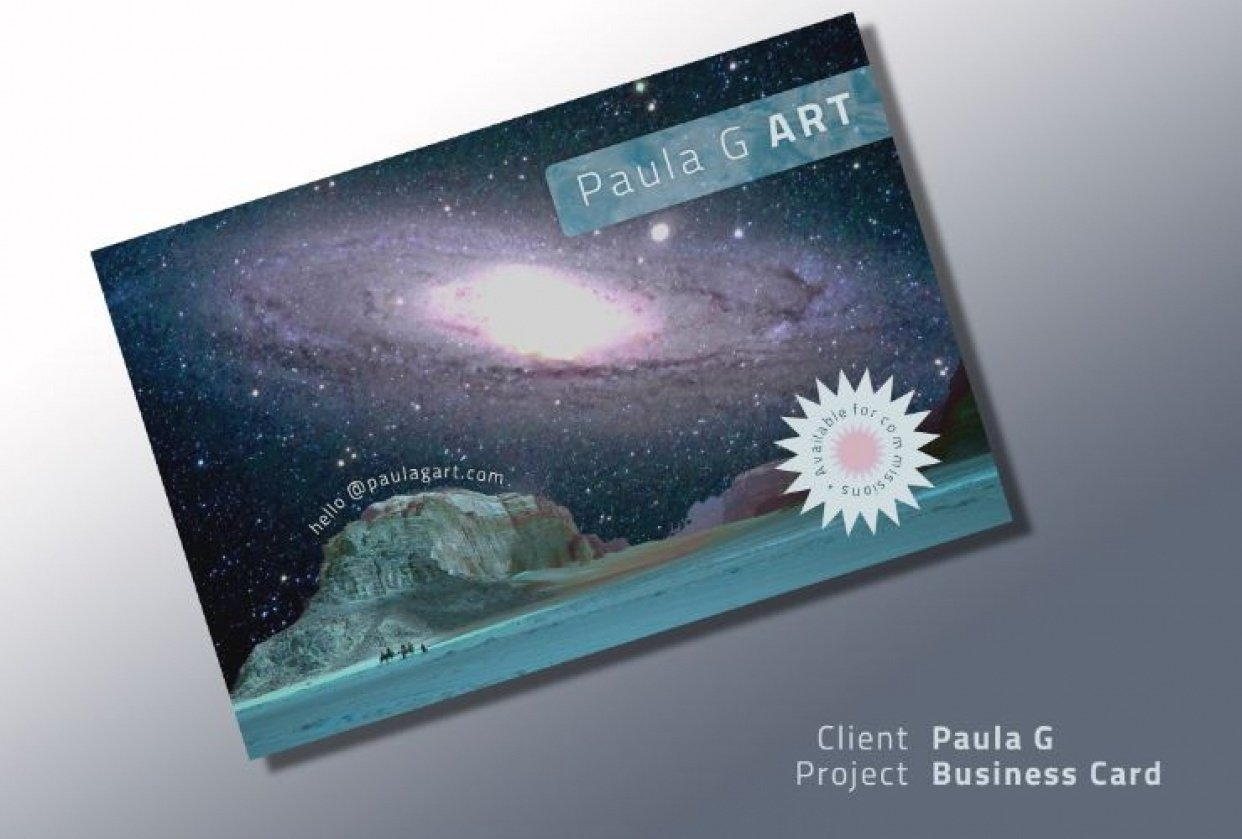 Postcard Project (Business Card) - student project