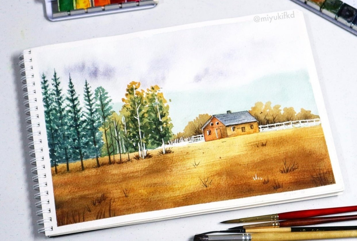 A Cabin in Autumn - student project