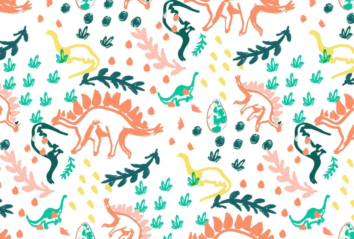 Dinosaur Repeat Pattern - student project