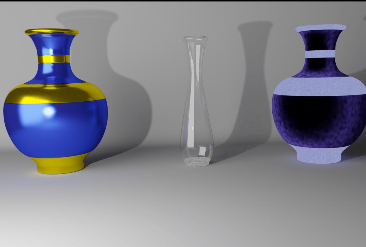 3 beatiful vase - student project